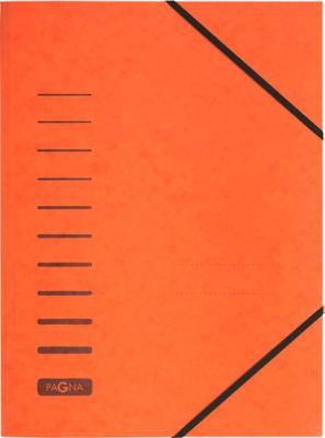 PAGNA Eckspannmappe, DIN A4, Gummizugverschluss, 25 Stück, orange