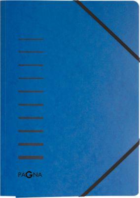 PAGNA elastomap, met 3 flappen, voor A4 formaat, blauw, pak van 25 stuks