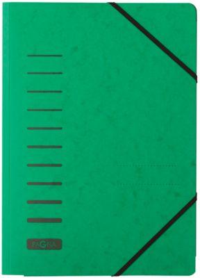 PAGNA elastomap, met 3 flappen, voor A4 formaat, groen, pak van 25 stuks
