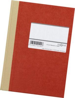 PAGNA Notaboek met harde kaft , met etiket, A4, geruit, rood, stuk
