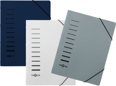 PAGNA Ordnungsmappe, DIN A4, Eckspann-Gummi, Polypropylen, 3er Set