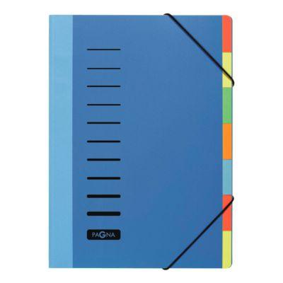 PAGNA PP-sorteermappen Color, 7 tabs, PP, blauw