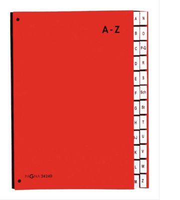 PAGNA Pultordner Color A - Z, auch für Überformate, Polypropylen, rot