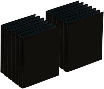 PAGNA Ringbuch, 4er-Mechanik, DIN A4, Rückenbreite 35 mm, 12 Stück, schwarz