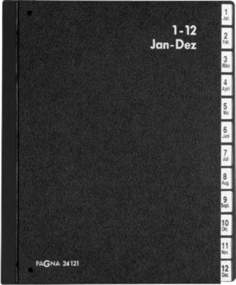 PAGNA Sorteermappen voor A4 formaat, tabs Jan. - Dez. (Duitse afkortingen), 12 vakken, stuk
