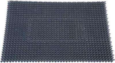 Paillason STEP IN, en polyétylène, pour l'intérieur et l'extérieur, 570 x 860 mm, gris foncé