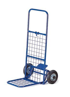 Paketroller mit Gitter, klappbar, Tragkraft 150 kg, Luft-Bereifung