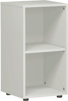 PALENQUE boekenkast, 2 OH, spaanplaat, B 400 x D 400 x H 752 mm, ichtgrijs
