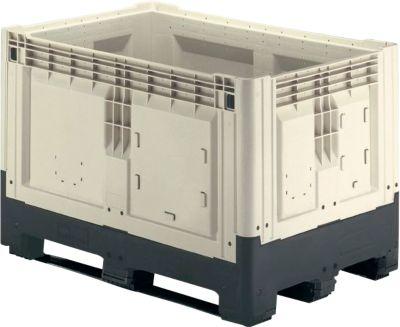 Palettenboxen mit Kufen, klappbar, 565 Liter