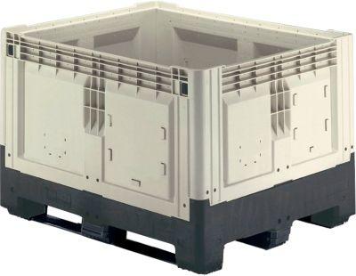 Palettenboxen mit Kufen, klappbar, 905 Liter