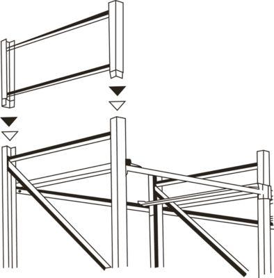 Palettenregalsystem PR 350, Aufsatzrahmen, 2500 x 850 x 70 mm