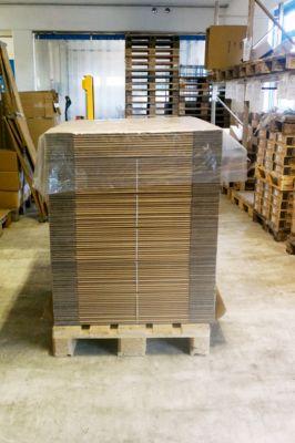 Pallet afdekfolie, transparant, 40 micron, 1200 x 1600 mm, 250 stuks