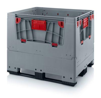 Palletbox Big Box, inklapbaar, 3 sleden, l 1200 x b 1000 x H 1000 mm