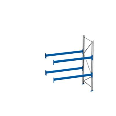 Palletstelling PR 600, aanbouwsectie, h 2500 mm, d 1100 mm, max. 800 kg, 2 lengtebalkniveaus