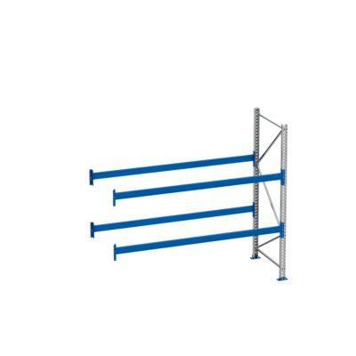 Palletstelling PR 600, aanbouwsectie, h 2500 mm, d 850 mm, max. 800 kg, 2 lengtebalkniveaus