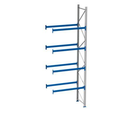 Palletstelling PR 600, aanbouwsectie, h 5800 mm, d 1100 mm, max. 1000 kg, 4 lengtebalkniveaus