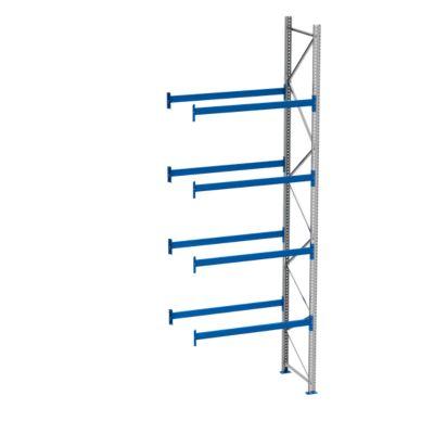 Palletstelling PR 600, aanbouwsectie, h 5800 mm, d 1100 mm, max. 800 kg, 4 lengtebalkniveaus