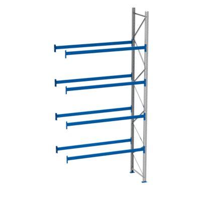 Palletstelling PR 600, aanbouwsectie, h 5800 mm, d 850 mm, max. 1000 kg, 4 lengtebalkniveaus