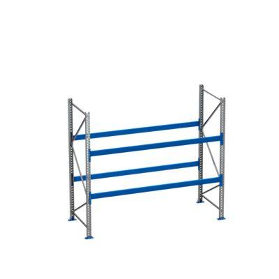Palletstelling PR 600, basissectie, h 2500 mm, d 850 mm, max. 800 kg, 2 lengtebalkniveaus