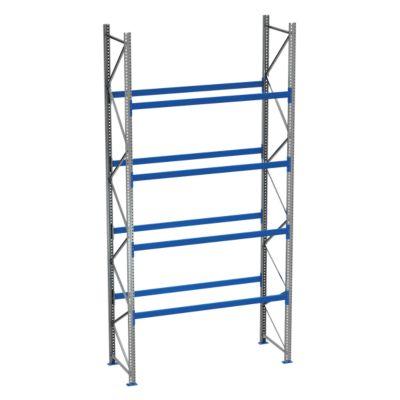 Palletstelling PR 600, basissectie, h 5800 mm, d 850 mm, max. 1000 kg, 4 lengtebalkniveaus