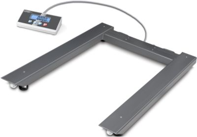 Palletweegschaal Kern UIB vloerweegschaal, incl. display, weegvermogen 1500 kg.