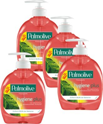 Palmolive hygiene plus gel handzeep, 300 ml, 3 stuks + 1 gratis