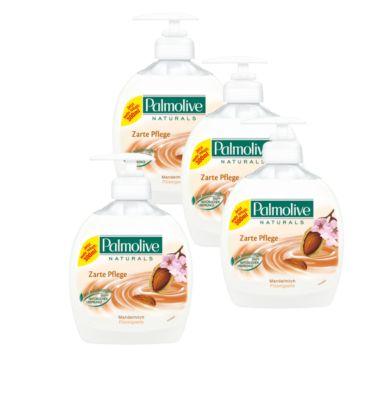 Palmolive verzorging Amandelmelk crèmezeep, 3 + 1 gratis