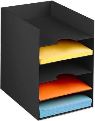 PAPERFLOW formulierbox A4, polystyreen, voor dossiers, 5 vakken, zwart
