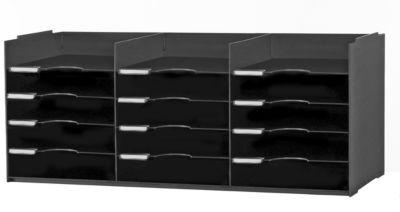 PAPERFLOW Sortierstation, DIN A4+, Polystyrol, schwarz