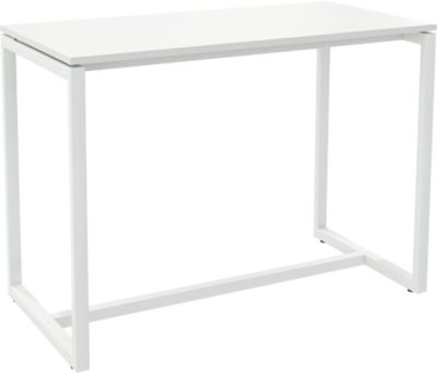 Paperflow Stehtisch Easy Desk, aus Metall, mit Bodenausgleichsschrauben, H 1100 mm, weiß/weiß