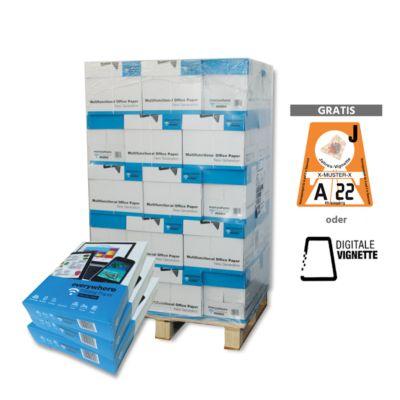 Papier Everywhere Printing Paper + Vignette, DIN A4, 80 g/m², weiß