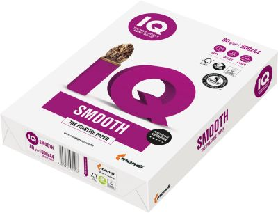 Papier IQ Smooth, glad, A4, 80 g/m², 500 vellen