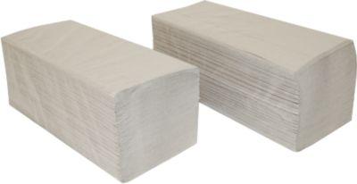 Papieren handdoeken SCHÄFER SHOP zigzagvouwen, 1-laags, L 250 x B 210 mm, scheurvast, 5000 vellen, natuurlijk
