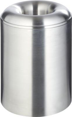 Papierkorb aus Aluminium, selbstlöschend, 20 l, mit Löschdeckel