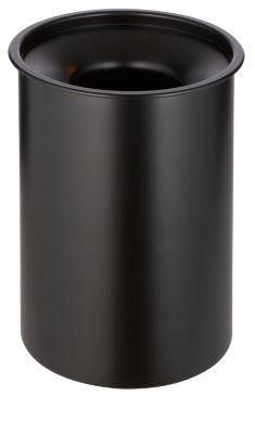 Papierkorb aus Stahl, feuerfest, schwarz, 13 l, mit Löschdeckel