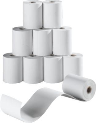 Papierollen enkel, 57 mm x 10 m, enkelvoudig, 10 rollen