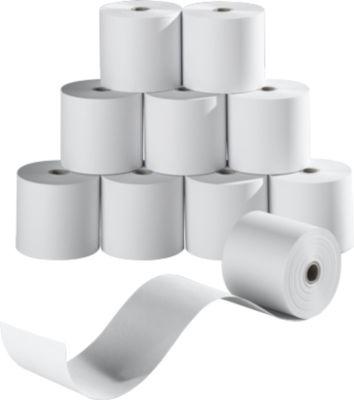 Papierollen, enkel, 57 mm x 40 m, enkelvoudig, 10 rollen