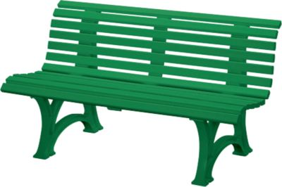 Parkbank, 3-Sitzer, L 1500 mm, grün