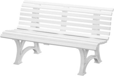Parkbank, 3-zits, l 1500 mm, wit