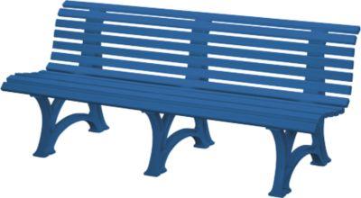 Parkbank, 4-zits, l 2000 mm, blauw
