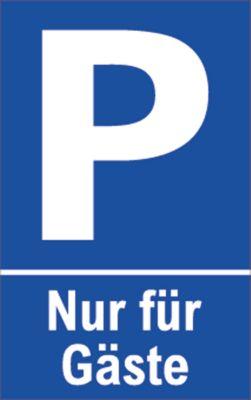 Parkeerplaatsbord (Alu-Dibond), Nur voor Gäste