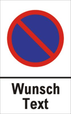 Parkeerverbod-bord met gewenste tekst (alu-dibond)