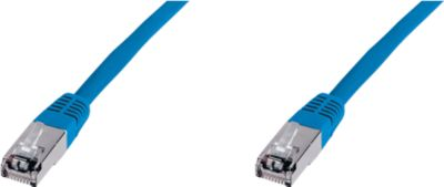 Patch-Kabel CAT5, blau, L 1,0 m