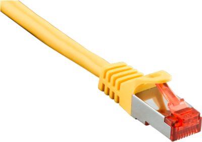 Patch-Kabel CAT6 S/FTP 0,5 m, gelb