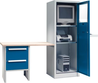 PC-Case Comfort met aanbouwwerkplek