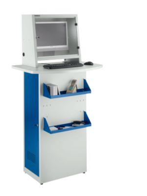 PC-kast, metalen, L 900 x D 700 x H 1728 mm