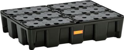 PE-Auffangwanne 60HD, aus Polyethylen, 100 % recycelbar, mit PE-Rost