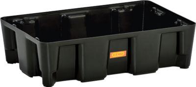 PE-opvangbak 25 HD, polyethyleen, 100% recyclebaar, zonder PE-rooster