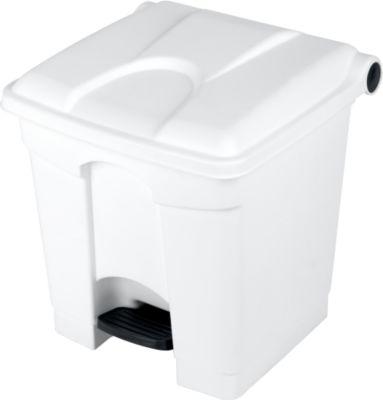Pedaalemmer van polyethyleen 30 l, wit, voor het verzamelen van pedaalafval