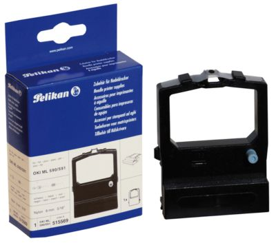 Pelikan Qualitäts-Druckerfarbband OKI ML 590/ 591, schwarz